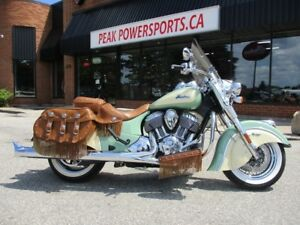 2015 Indian Motorcycle Chief Vintage Willow Green / Ivory Cream