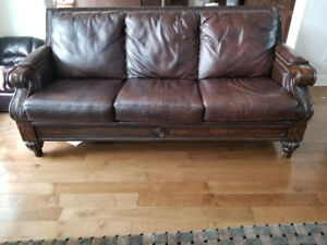 Ashley Sofa Set (2 Pieces) 100% Leather