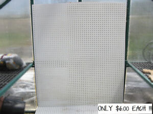 """50 Used Pegboard Sheets(46.5"""" x 54"""")"""