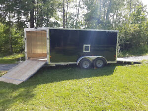 2017 Stealth 7' x 19' Enclosed Snowmobile Trailer