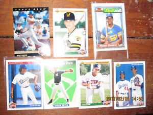 1989 to 1993 Base Ball cards