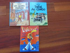 Lot 3 BDs Tintin Titeuf