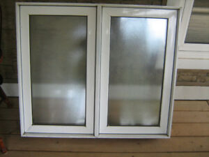 Bathroom window with frosted glass