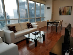 Sept 9: Furnished 2 Bed Downtown Suite next to Union & Harbour