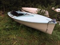 Free sailing boat hull ideal garden feature play pen rowing boat