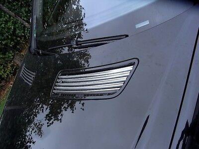 Aluminium polierte Leisten Lufteinlass für Motorhaube für Mercedes S-Klasse W221