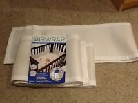 Air wrap cot bumpers