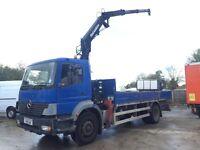 2001-Y reg Mercedes atego 1823 18ton crane Hiab truck ideal export foldaway crane