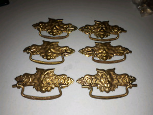Set of 6 Drawer Pulls Dresser Handles Antique Looking