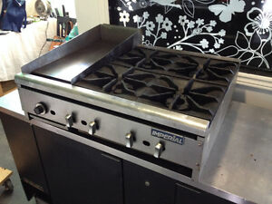 Imperial 4-Burner Commercial Stove Top