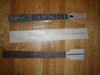 Electric Guitar Parts - body blanks and necks unfinished