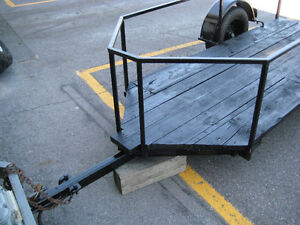 "motor cycle low trailer  9 ft by 45"" drop ramp with channel &4x4 Kingston Kingston Area image 5"