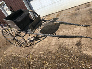 Selke horse cart and complete harness for sale