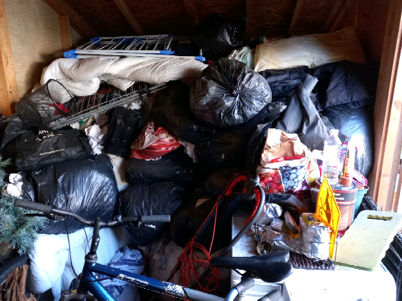 Garden sheds cleared on the same day