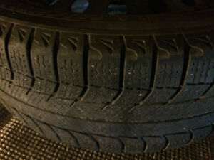 4 Michelin X Ice tires on rims 185/60 R15