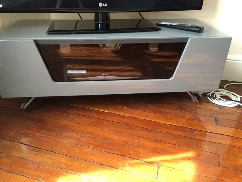 Alphason Chromium 100cm Tv Stand Bracket Grey Fits Up To 50 Inch