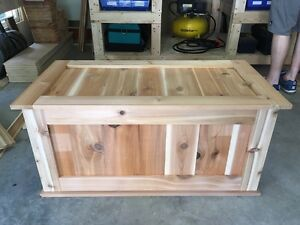 Blanket chest handmade from CEDAR wood Cambridge Kitchener Area image 4