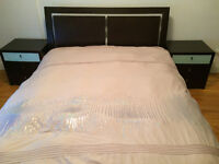 Queen size bed set from Mobilia + mattress