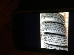 4 - P225/70R16 CTC Motomaster Studded Winter Tires