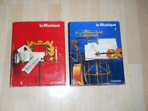 """LAROUSSE """" La Musique """" 1 & 2 """""""