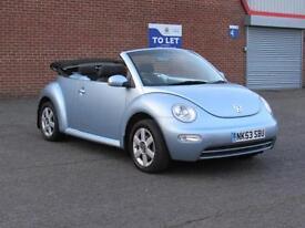 2003/53 Volkswagen Beetle 1.6 convertible, 12 months mot, HPI clear, 99000 miles