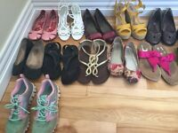 21 pairs of ladies shoes - size 8, 8.5 & 9