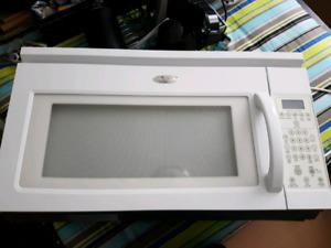 Large Whirlpool microwave / range hood