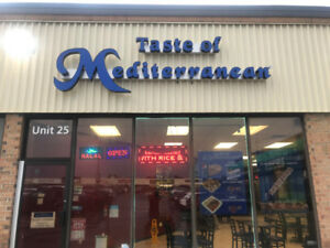 Established Mediterranean Franchise In Whitby Up For Sale!