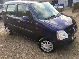 2000 'X' Vauxhall Agila 1.2. Perol. Manual. 5 Door Mini MPV. Px Swap