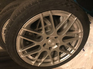 """18"""" Low Profile rims and rubber."""