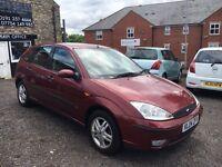 2004 Ford Focus 1.6 Zetec, 5Door, Red, 63k, MOT, FSH