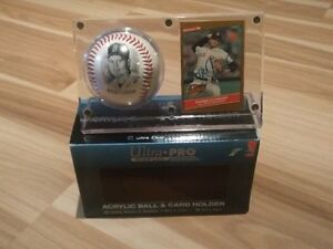 Autographed Roger Clemens Baseball Card In Case with Photoball