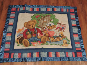 Hand made Teddy bear quilt - Enfield