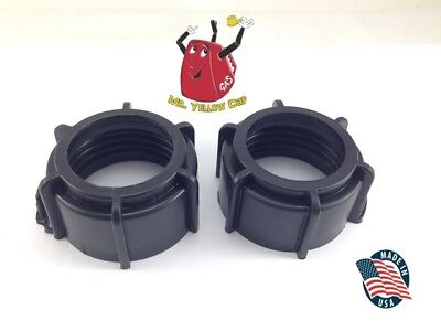 2 - Blitz Gas Can Black Nozzle Spout Retaining Rings Replacement Vintage - New