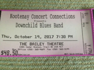 Downchild Blues 8th  Row Centre