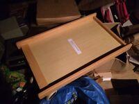 Wooden Oak stain cot top changer