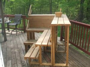 Sauna Bench + T & G Cedar