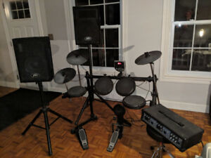 Drum kit - Full electronic Alesis kit.