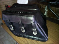 Aligator leather saddle bags