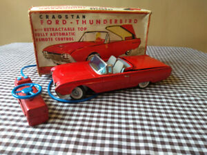 VINTAGE TIN JAPAN 60'S T-BIRD RETRACTABLE / BOXED
