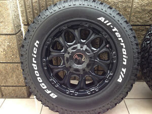Work Wheels Crag BJS - Black w/ BFGOODRICH ALL-TERRAIN T/A KO