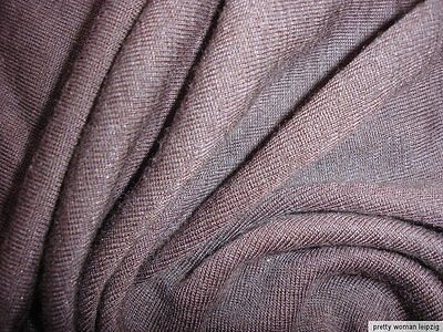 1 Lfm Schlauchstoff 5,70€/m² Strickschlauch Wolle Feinrippe braun PC52