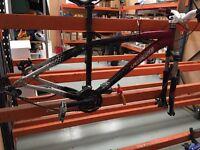 Specialized mountain bike. Frame, forks, Handel bars.