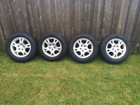 2002 Dodge Grand Caravan Rims and Lightly Used Winter Tires