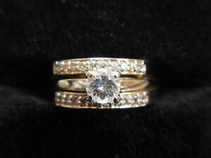 3 pc Engagement/Wedding/Anniversary Ring Set