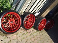 """Trade? 5x114.3 20"""" MSR 098 rims with new tires and powder coat"""