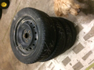 Free TPMS with Rims and Tires for Honda
