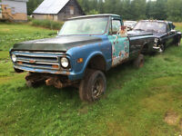 1972 Chevy 4x4 and a 1967 gmc for sale or trade