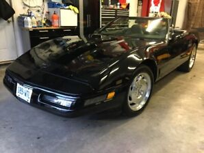 Show Room Condition All Original Black on Black Corvette Conver