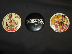 OKTOBERFEST 1981, 84& 91 KITCHENER WATERLOO VINTAGE BUTTON PINS Belleville Belleville Area image 1